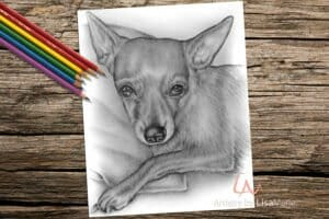 chihuahuasitting_coloringpage-on-wood