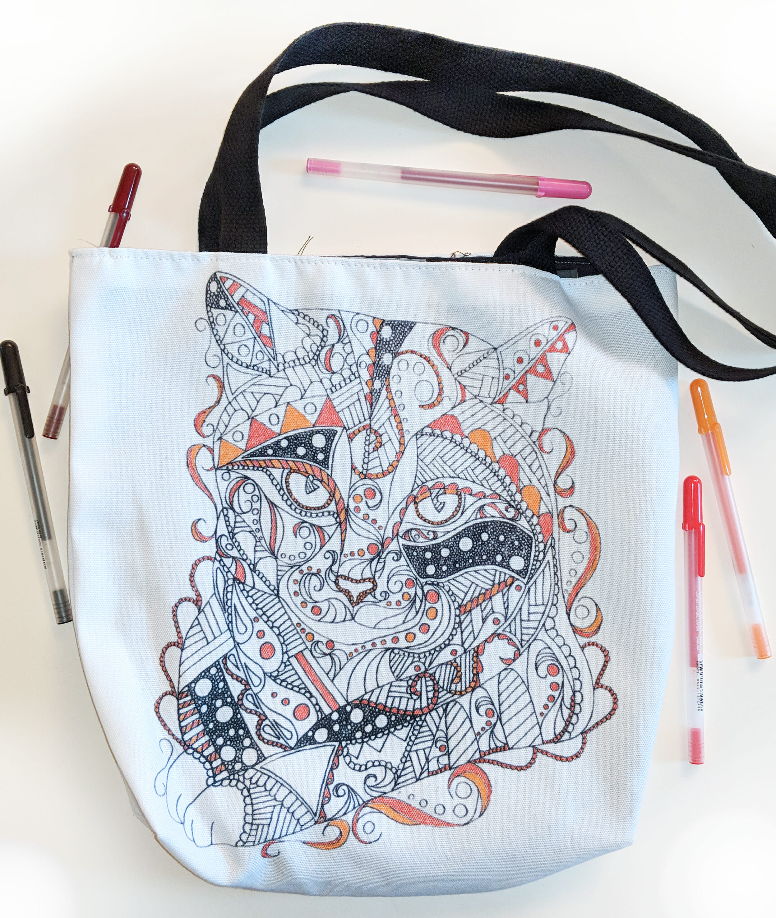 Coloring Tote Bag: Coloring On The Go!