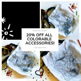 Coloring Totes: Coloring On The Go! || Now 20% OFF!
