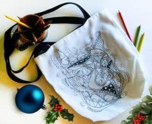 Coloring Totes - cat tote bag