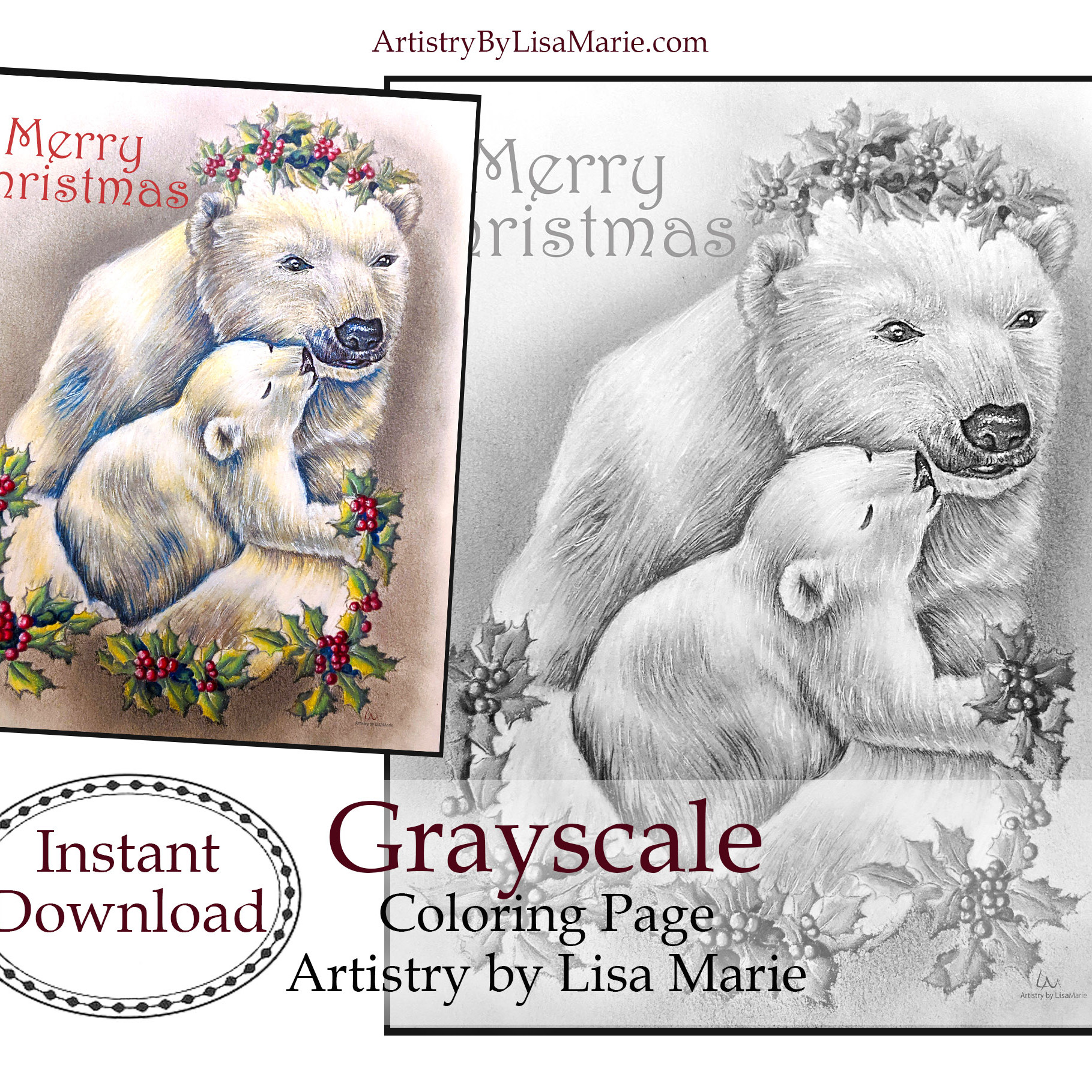 New Printable Coloring Pages Polar Bears Artistry By Lisa Marie
